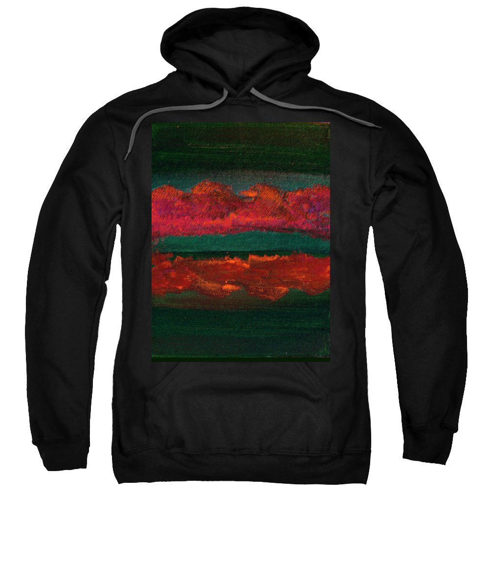Abstract Sweatshirt featuring the mixed media Possibilities by Lenore Senior