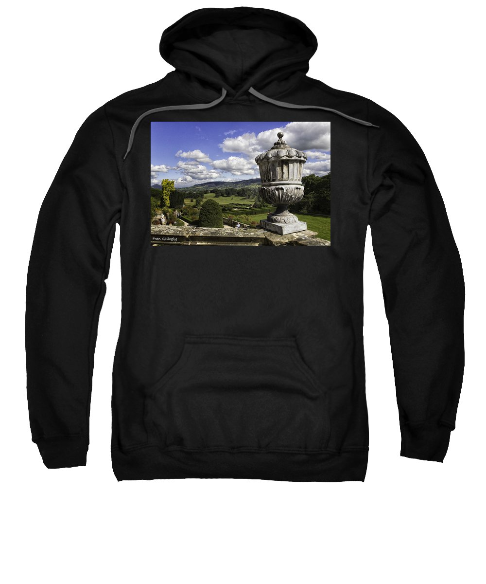 Wales Sweatshirt featuring the photograph Powis Castle Garden Urn by Fran Gallogly