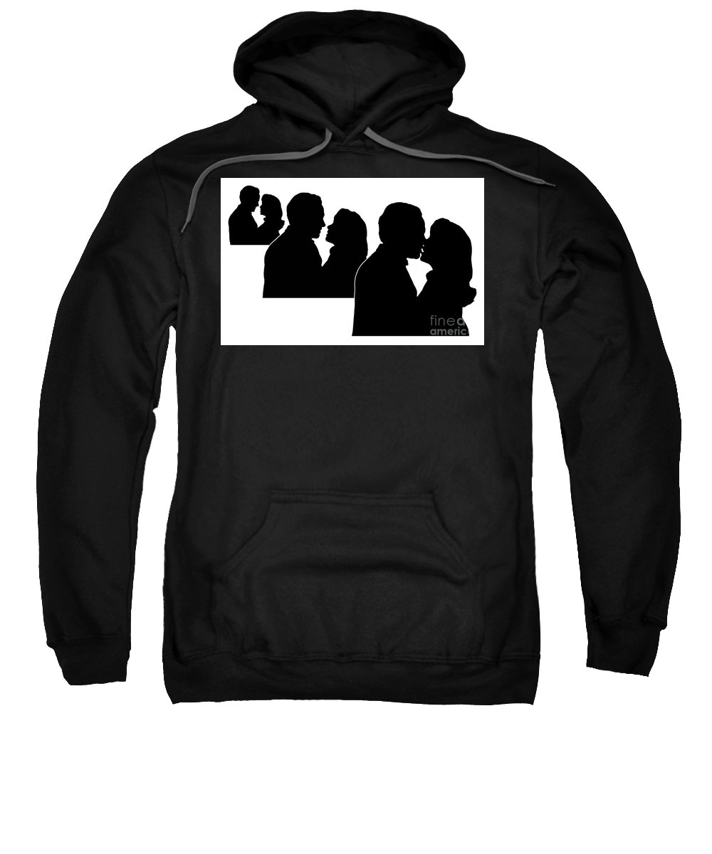 Prelude To A Kiss Sweatshirt featuring the digital art Prelude To A Kiss by Peter Piatt