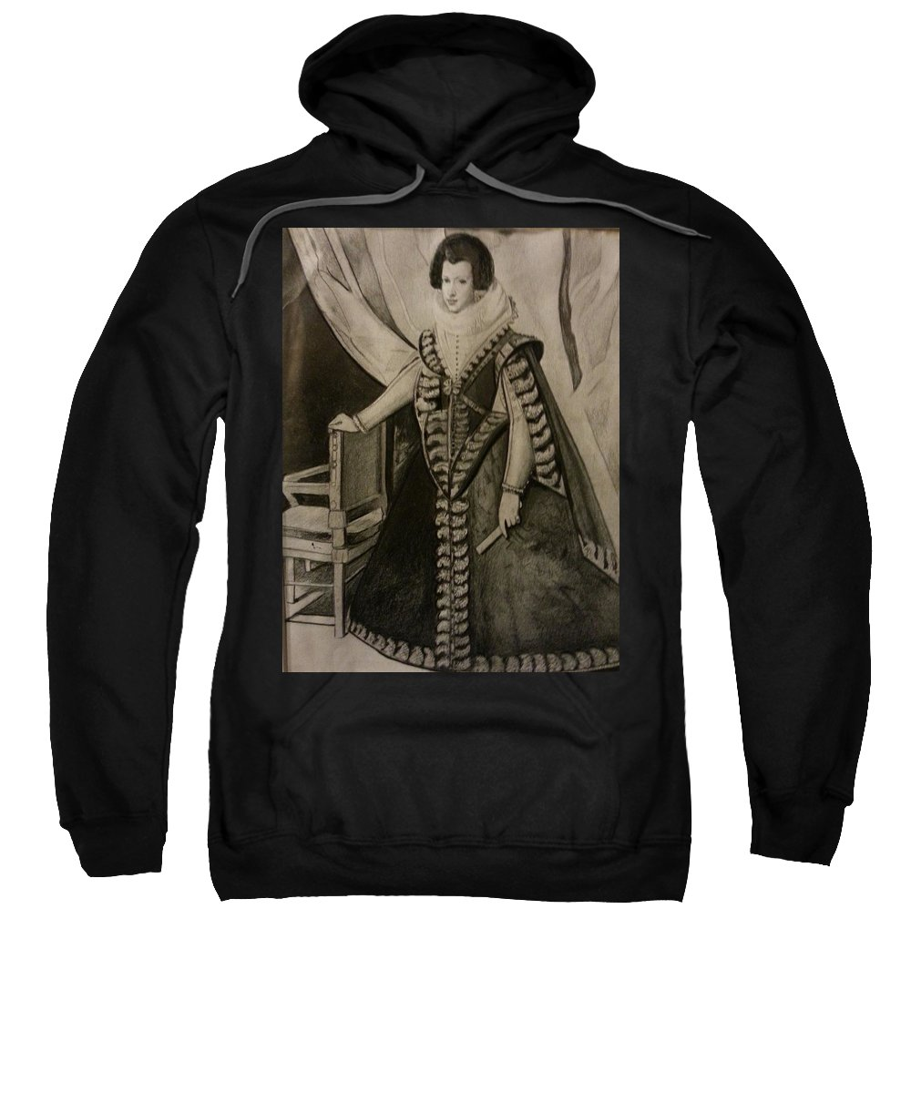 Sweatshirt featuring the drawing Princess Isabella by Jude Darrien