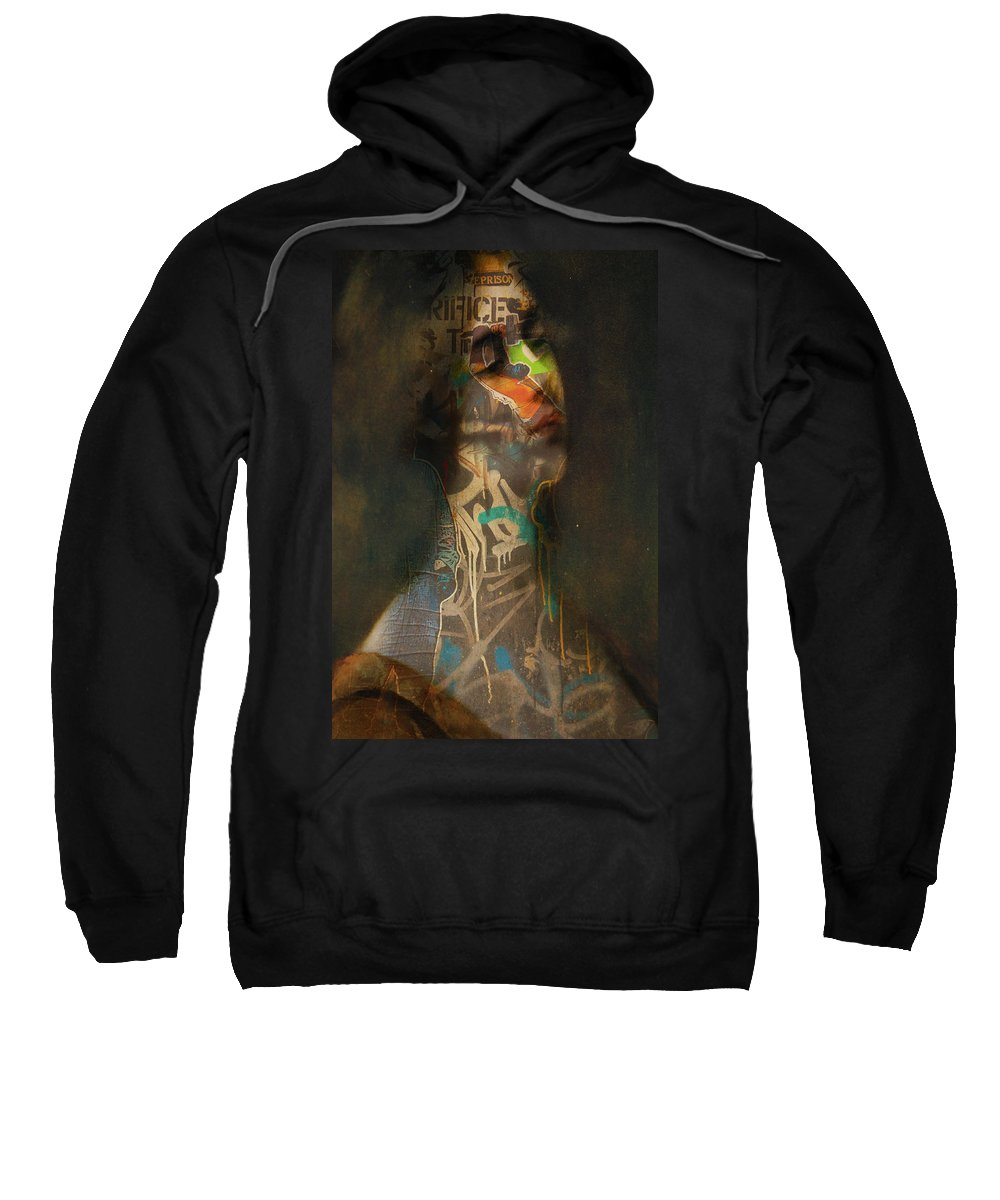 Abstract Sweatshirt featuring the photograph Prison I Sacrifice by The Artist Project