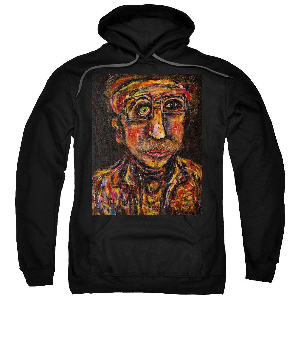 Professor Sweatshirt featuring the painting Professor by Natalie Holland