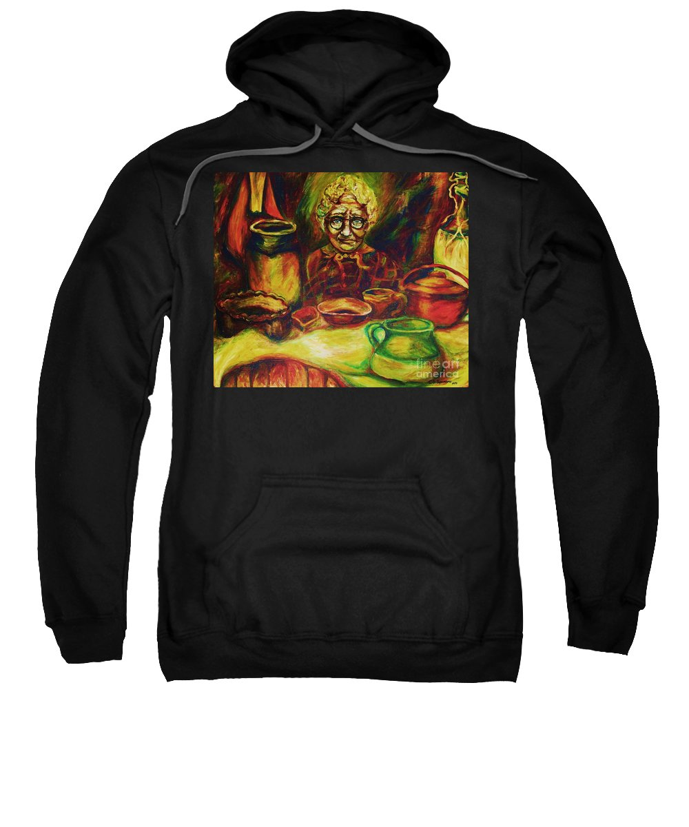 Illustrations From The Bible Sweatshirt featuring the painting Proverbs 31 Woman by Carole Spandau