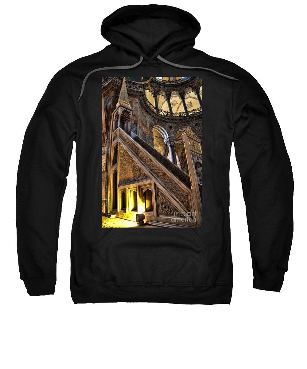 Turkey Sweatshirt featuring the photograph Pulpit In The Aya Sofia Museum In Istanbul by David Smith