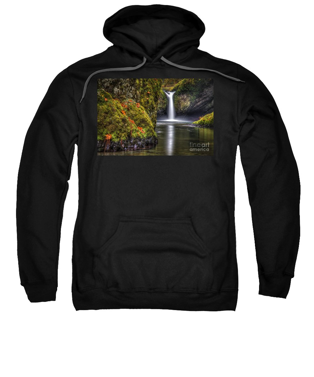 Oregon Sweatshirt featuring the photograph Punch Bowl Falls by Matt Hoffmann