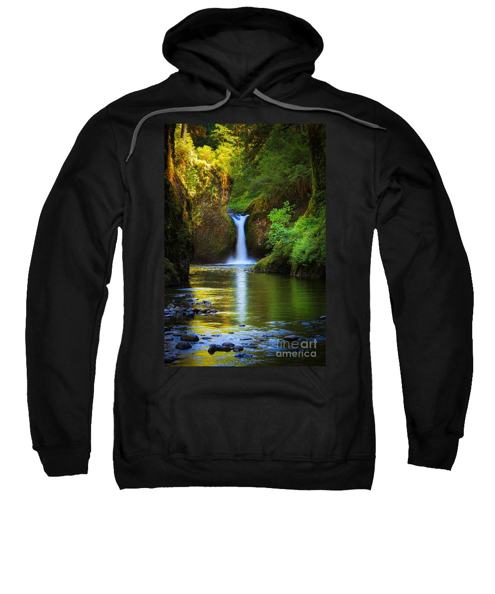 America Sweatshirt featuring the photograph Punchbowl Falls by Inge Johnsson