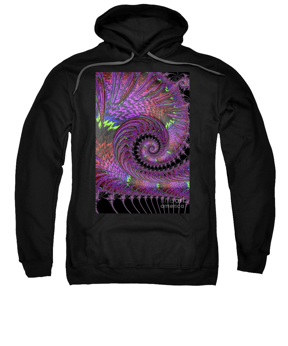 Fractal Sweatshirt featuring the photograph Purple Swirl by Steve Purnell