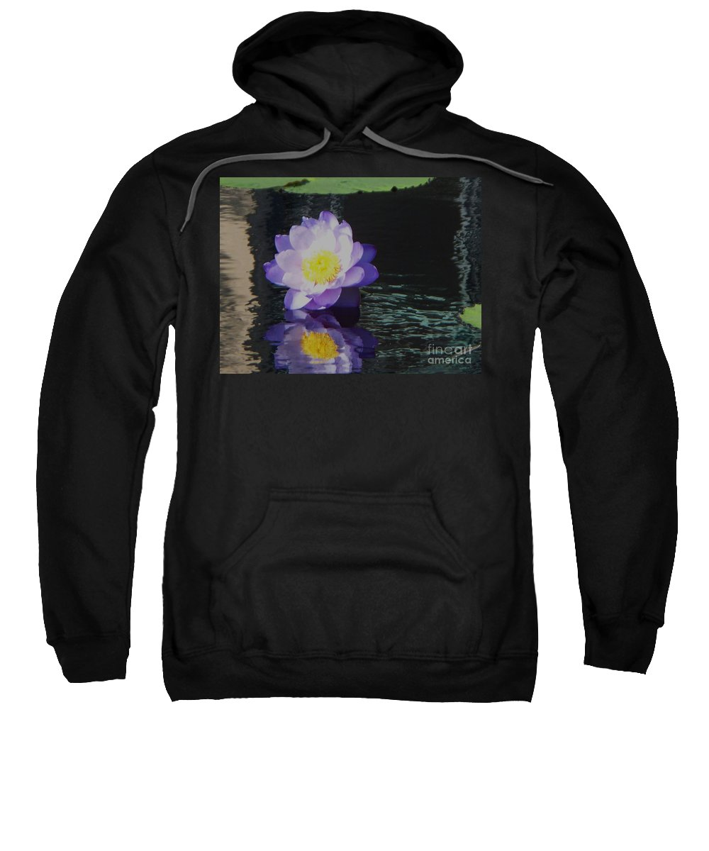 Photograph Sweatshirt featuring the photograph Purple White Yellow Lily by Eric Schiabor