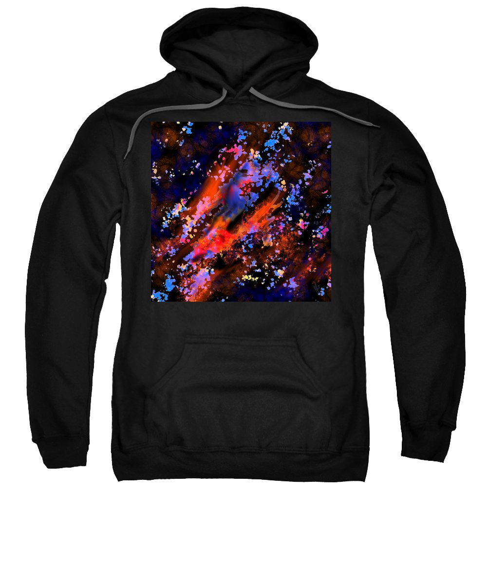 Mathieu Lalonde Sweatshirt featuring the digital art Push It Collection by Mathieu Lalonde