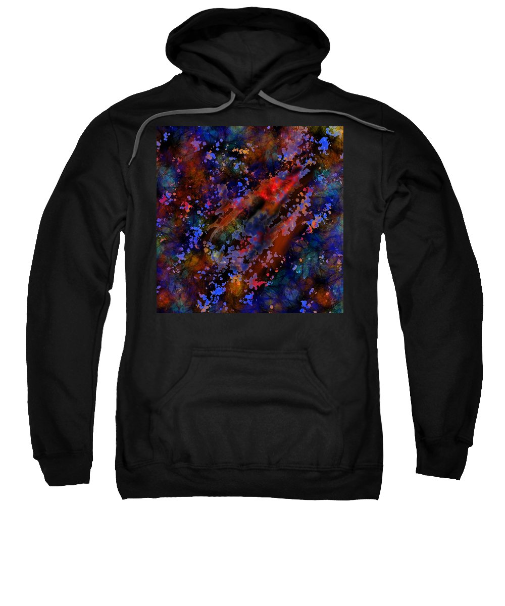 Mathieu Lalonde Sweatshirt featuring the digital art Push It World Collection by Mathieu Lalonde
