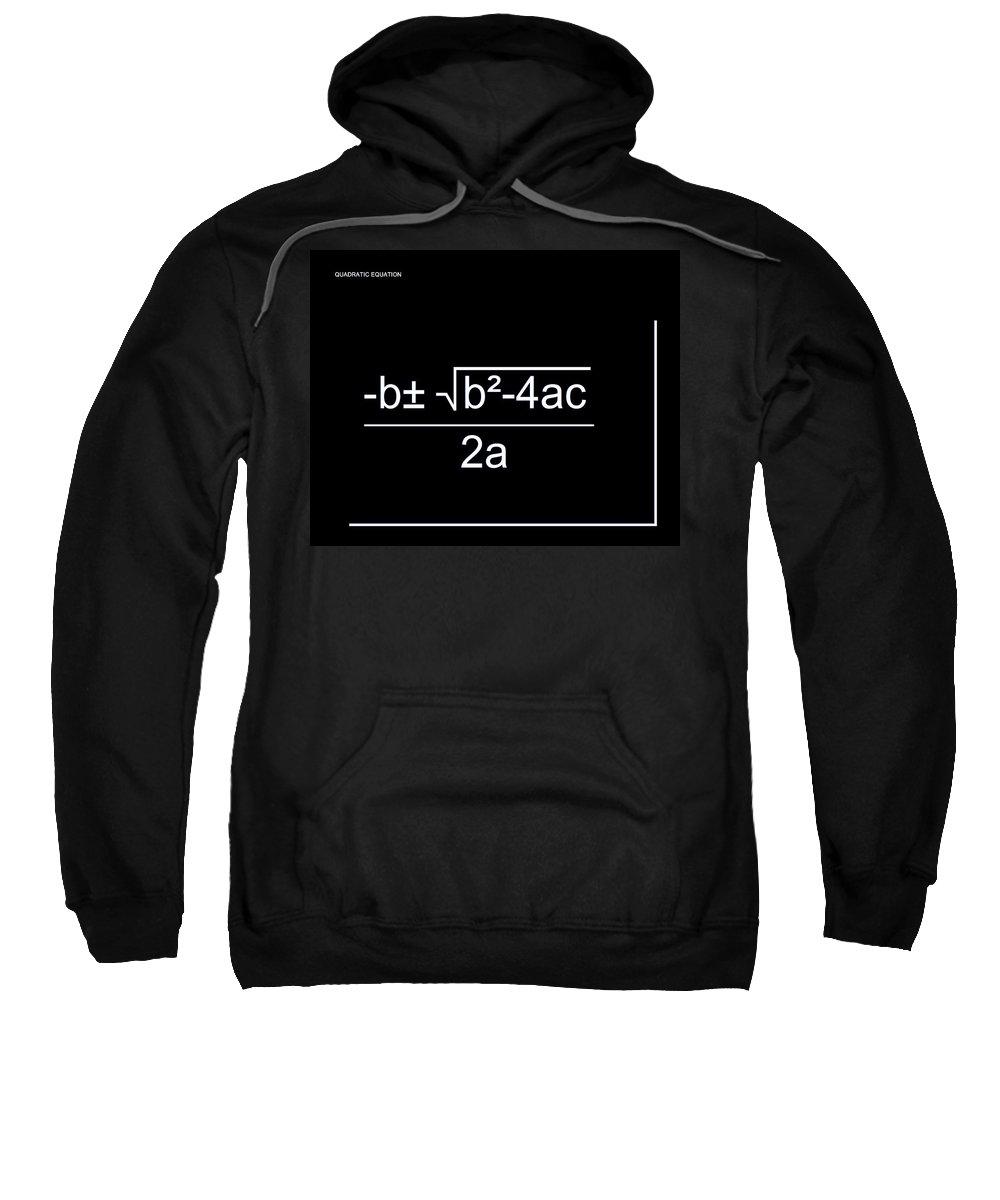 Featured Sweatshirt featuring the digital art Quadratic Equation W-b by Paulette B Wright