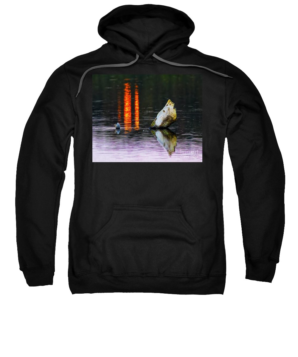 Quarry Lake Reflections Sweatshirt featuring the photograph Quarry Lake Reflections by Gary Holmes