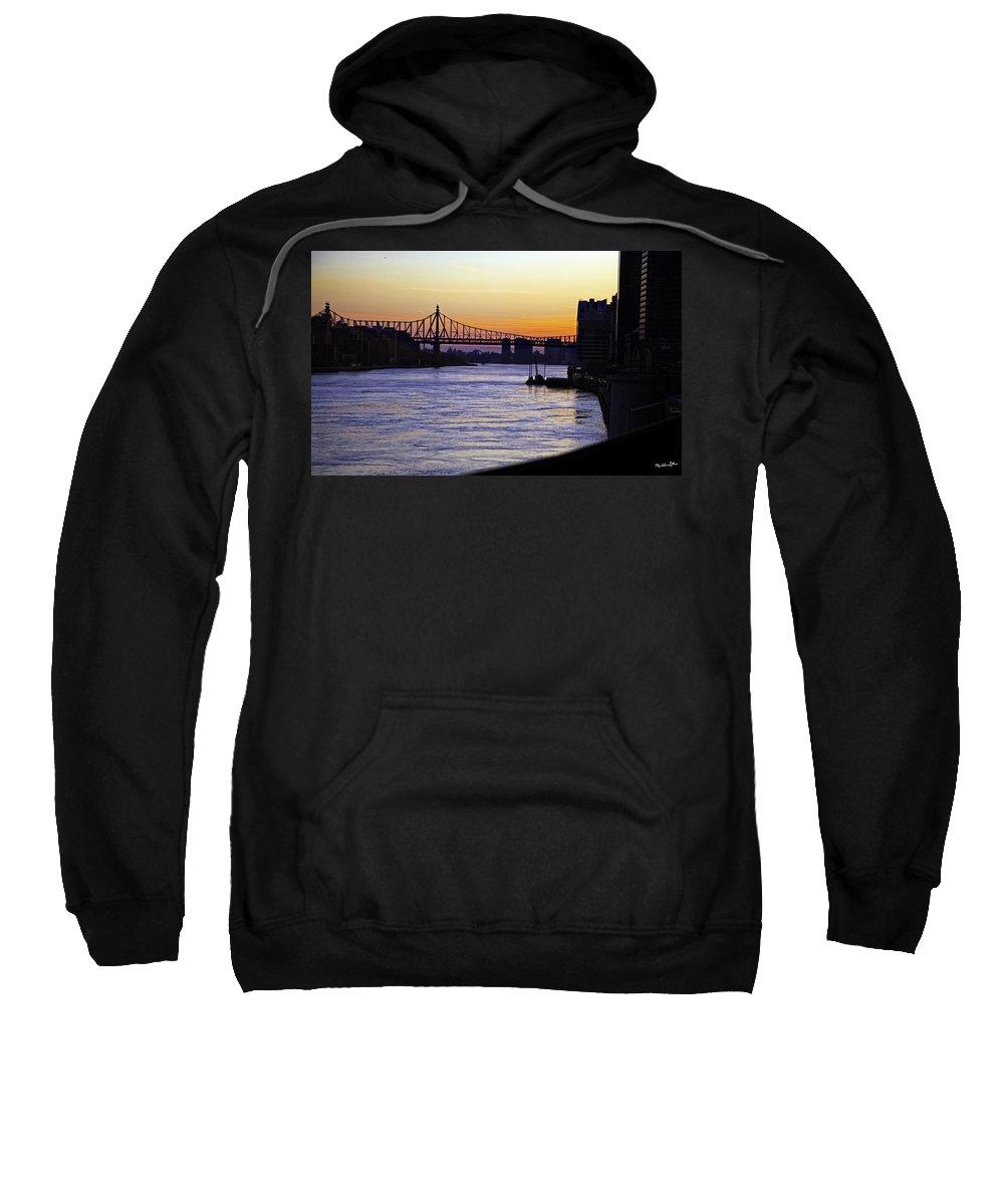 Queensboro Bridge Sweatshirt featuring the photograph Queensboro Bridge At Night - Manhattan by Madeline Ellis