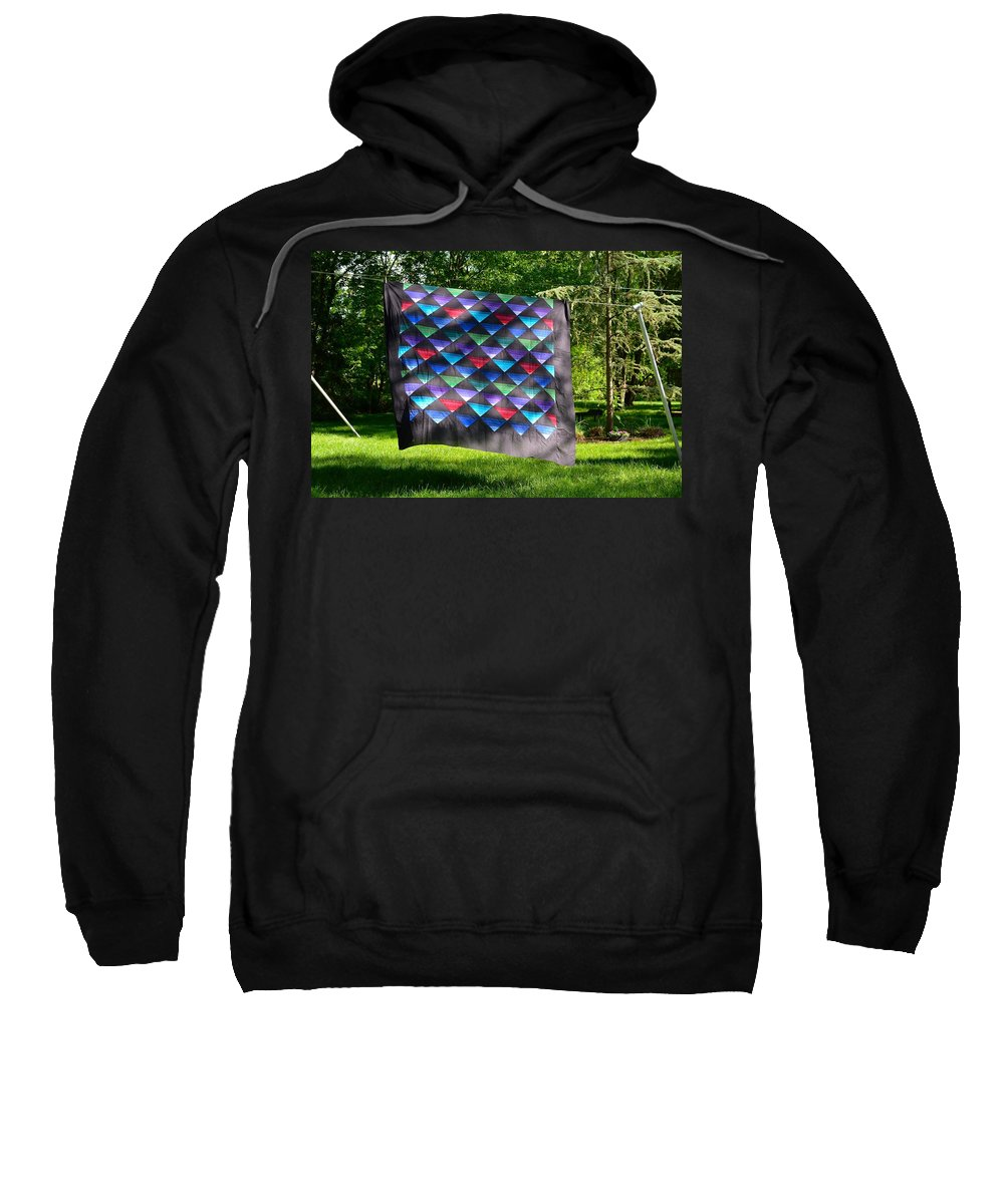 Amish Sweatshirt featuring the photograph Quilt Top In The Breeze by Tana Reiff