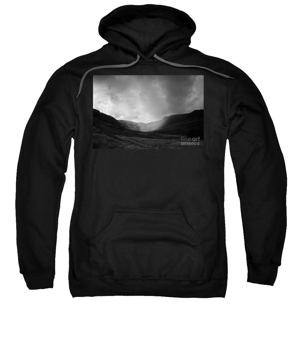 Landscape Sweatshirt featuring the photograph Rain In Riggindale by Kathryn Bell
