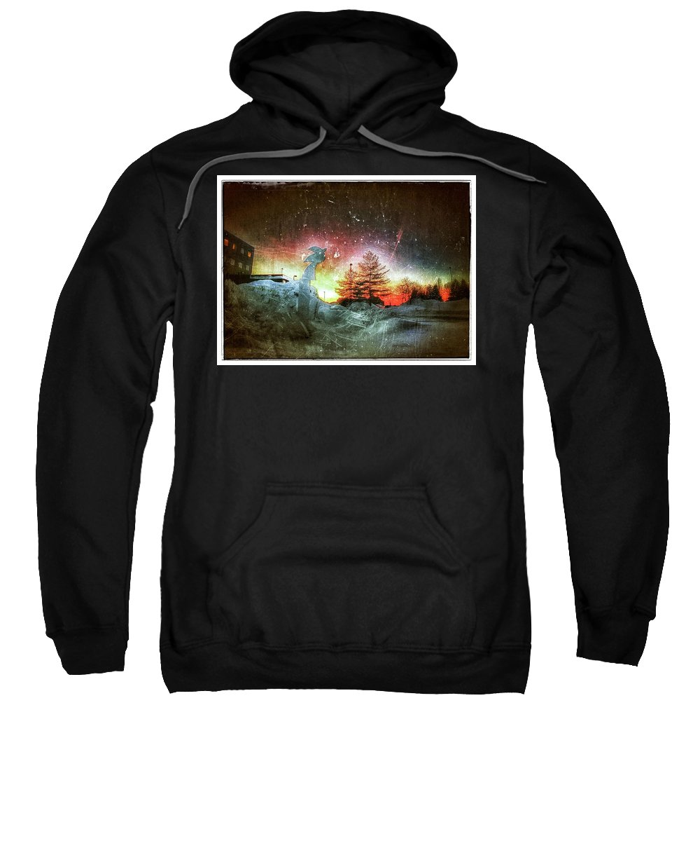 Sky Sweatshirt featuring the photograph Rainbow Sunset by Christopher Foote