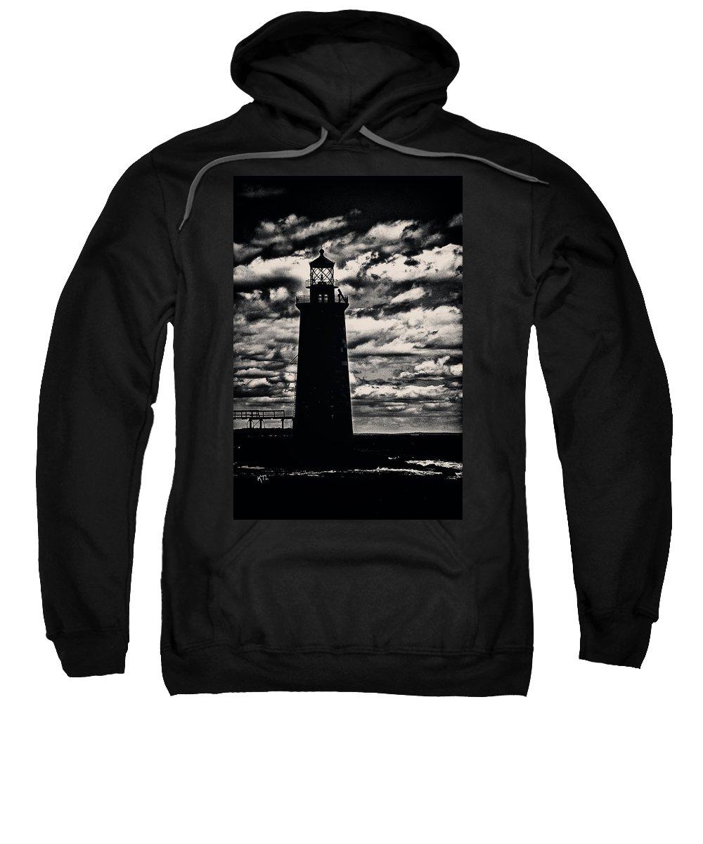 Ram Island Sweatshirt featuring the photograph Ram Island Ledge Light by Karol Livote