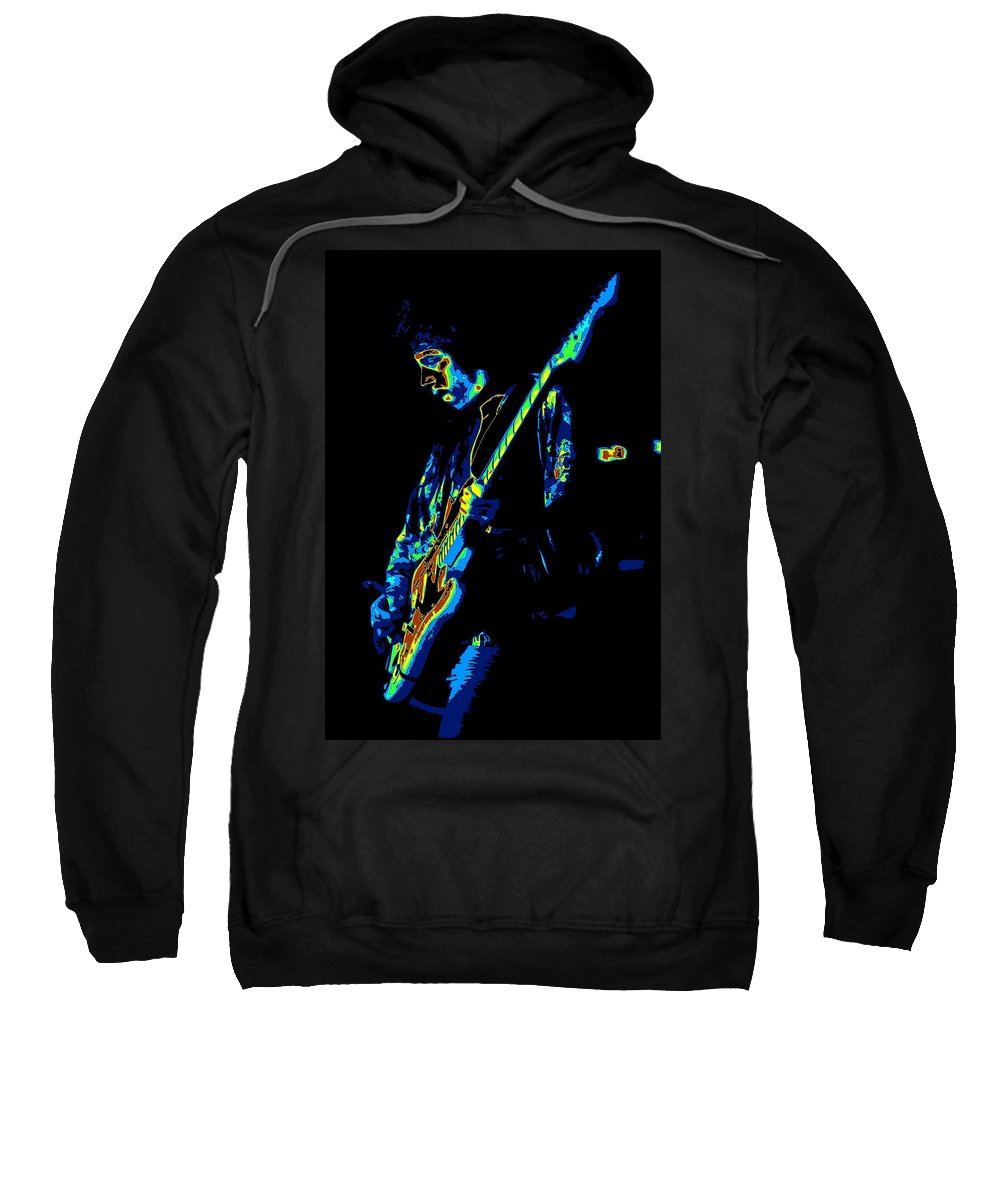 Randy Hansen Sweatshirt featuring the photograph Randy Hansen Being Psychedelic In Idaho 1978 by Ben Upham III