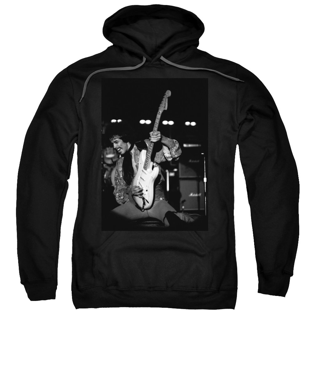 Randy Hansen Sweatshirt featuring the photograph Randy Hansen In Idaho 1978 by Ben Upham