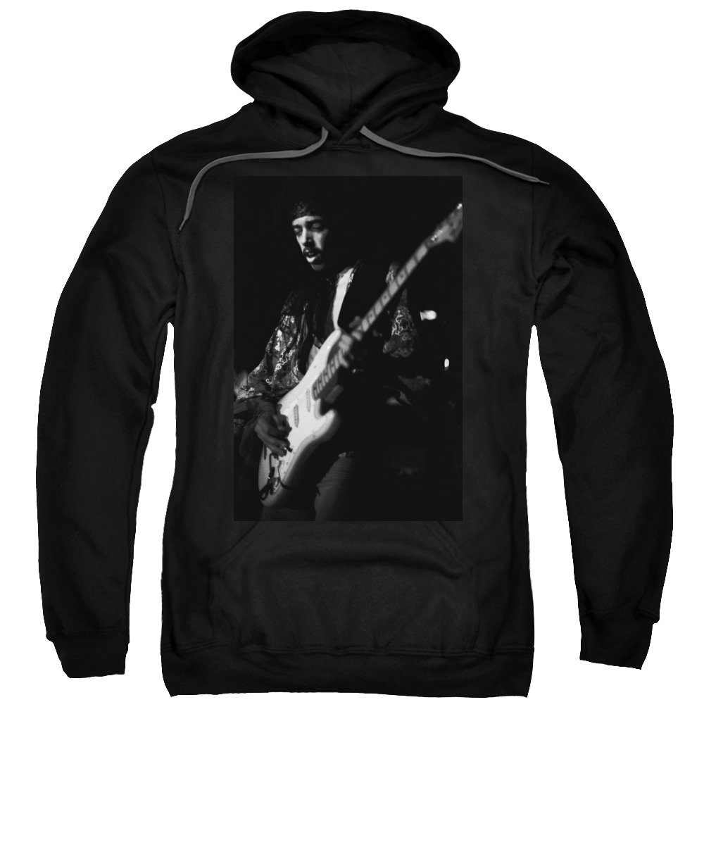 Randy Hansen Sweatshirt featuring the photograph Randy Hansen Live On The 3rd Stone From The Sun 1978 by Ben Upham