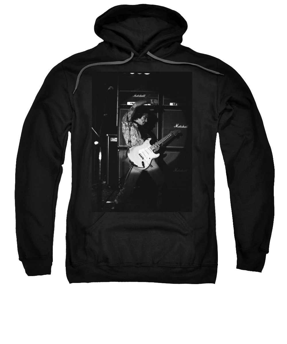 Randy Hansen Sweatshirt featuring the photograph Randy Hansen Playing For Jimi 1978 by Ben Upham
