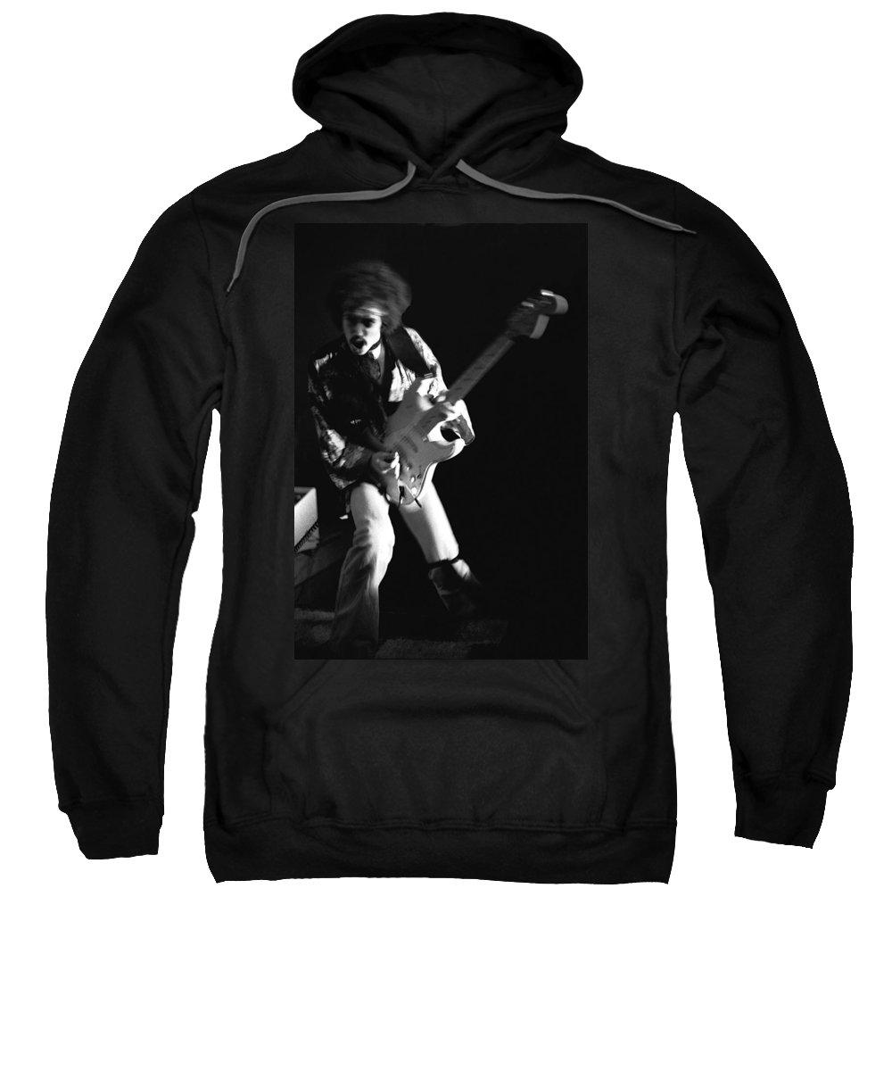 Randy Hansen Sweatshirt featuring the photograph Randy Hansen Rocking In 1978 by Ben Upham