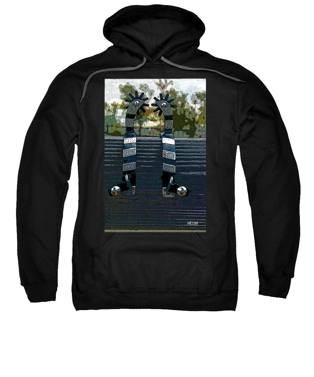 Horse Paintings Sweatshirt featuring the photograph Rawlings Around by Mayhem Mediums