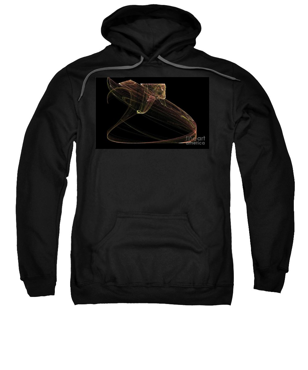 Snake Sweatshirt featuring the digital art Ready To Strike by Sara Raber