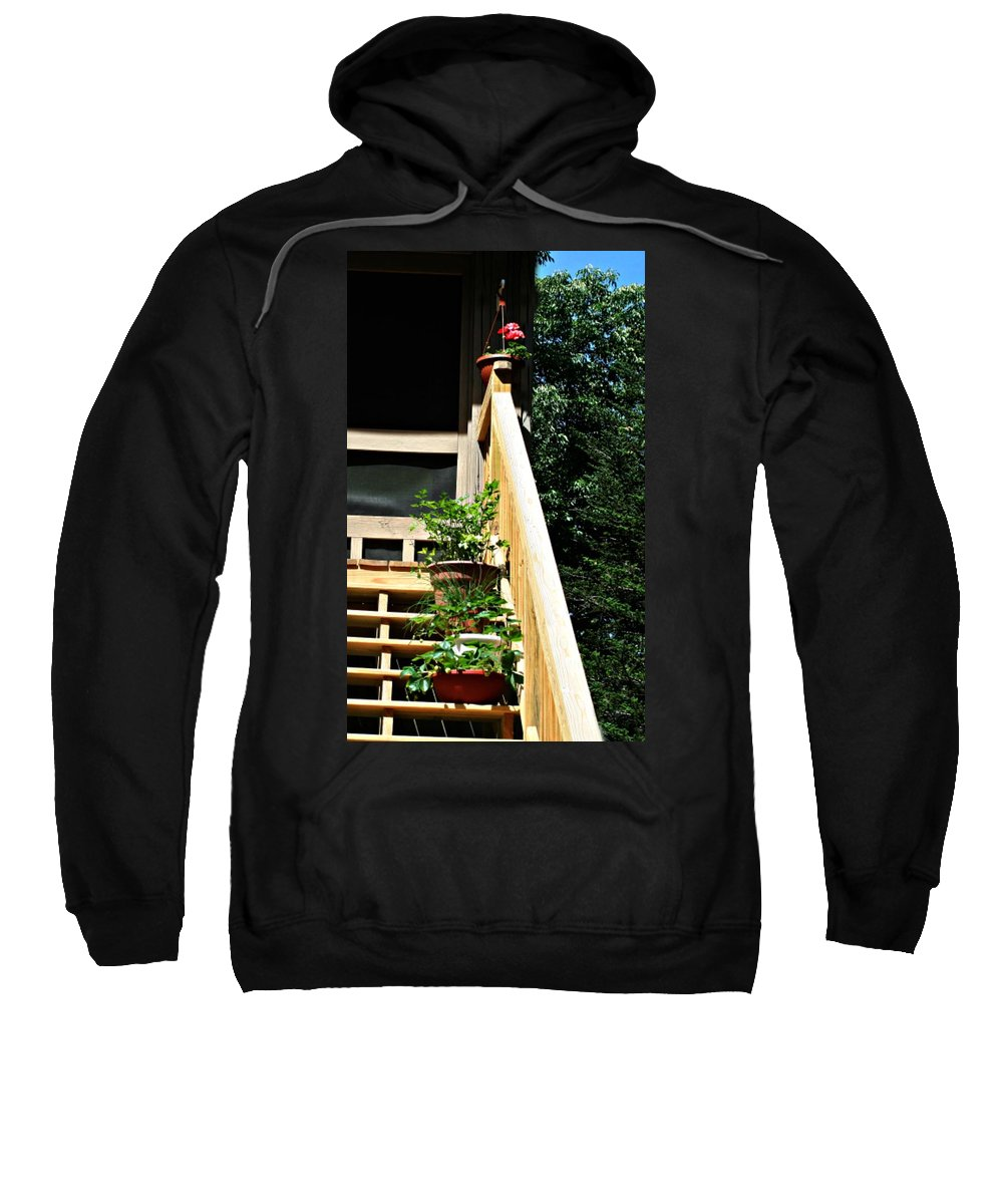 Steps Sweatshirt featuring the photograph Rear Entrance by Barbara S Nickerson
