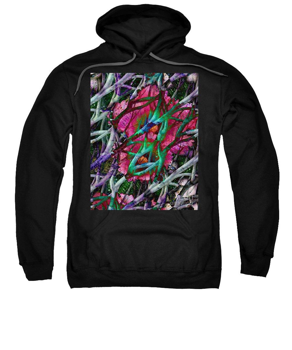 Abstract Sweatshirt featuring the digital art Rebirth by Yael VanGruber