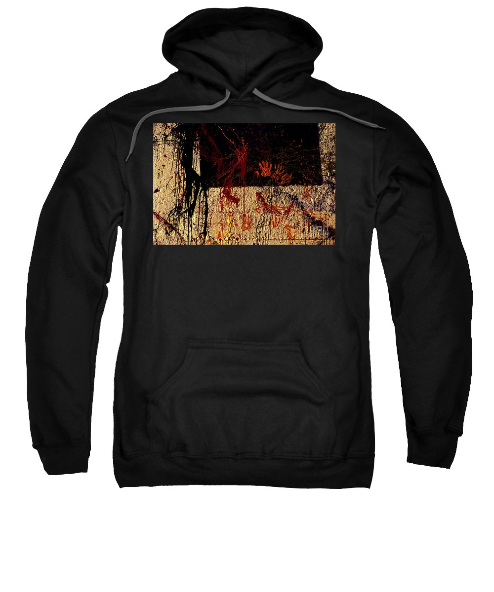 Graffiti Sweatshirt featuring the photograph Red Hands by Paul W Faust - Impressions of Light