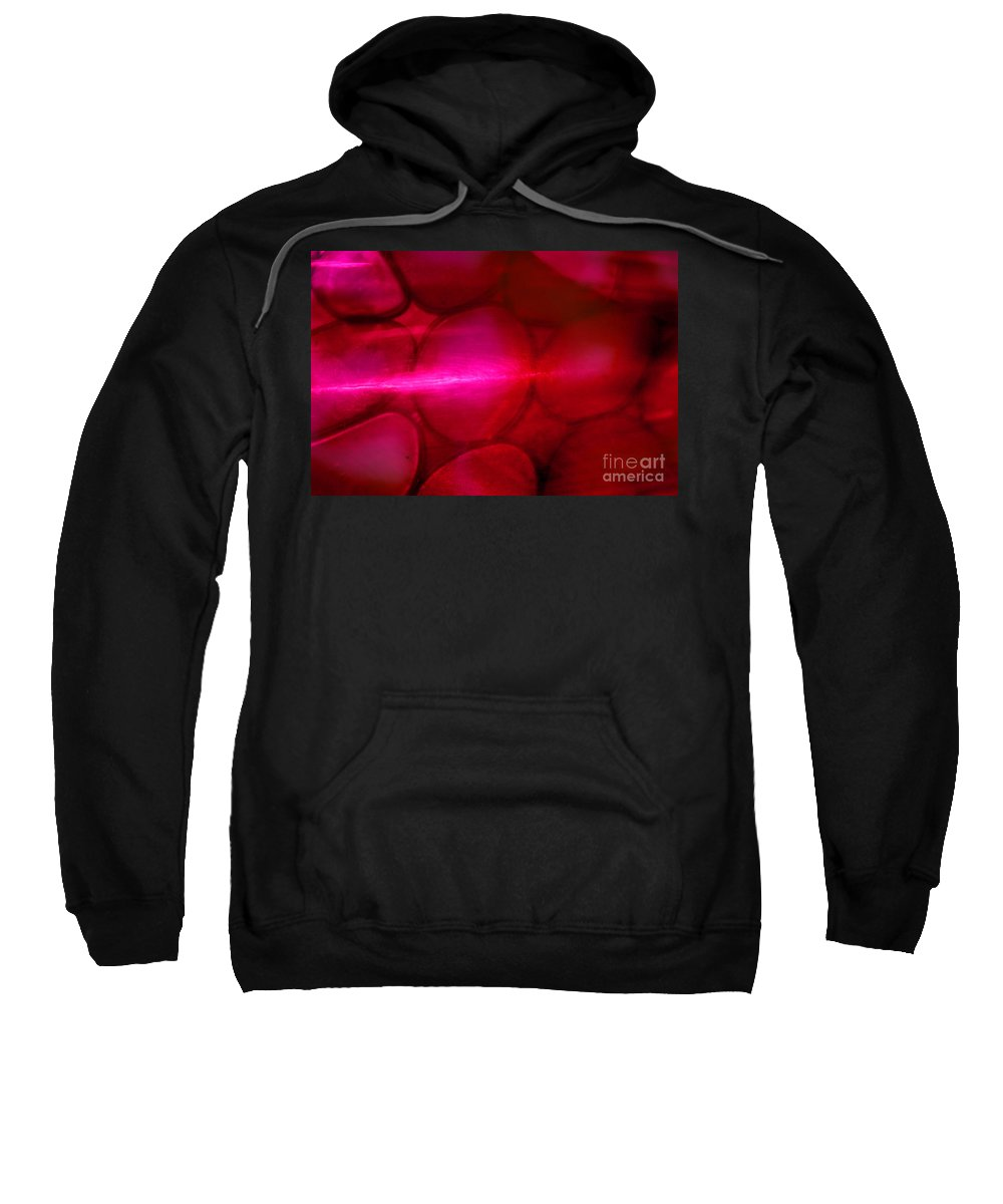 Red Sweatshirt featuring the photograph Red Hot Mystery by Karen Adams