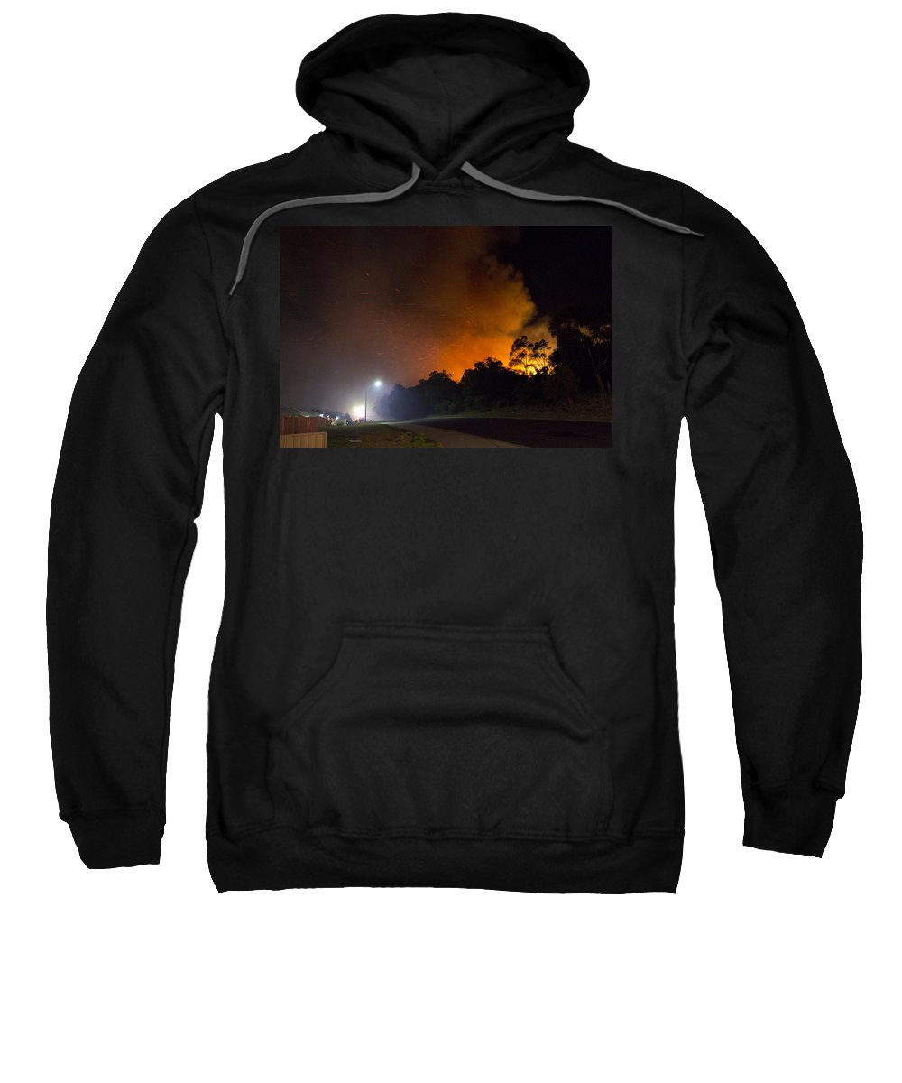Fire Sweatshirt featuring the photograph Red Hot Shower by Robert Caddy