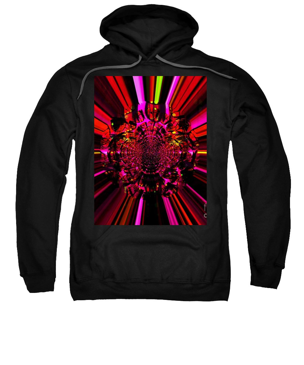 Abstract Sweatshirt featuring the photograph Red Ray by JoNeL Art