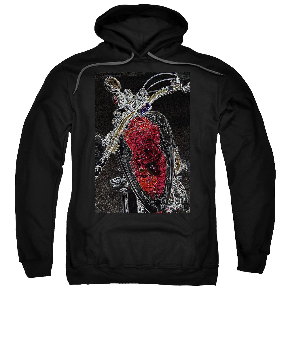 Motorcycle Sweatshirt featuring the photograph Red Riding Hood 2 by Anthony Wilkening