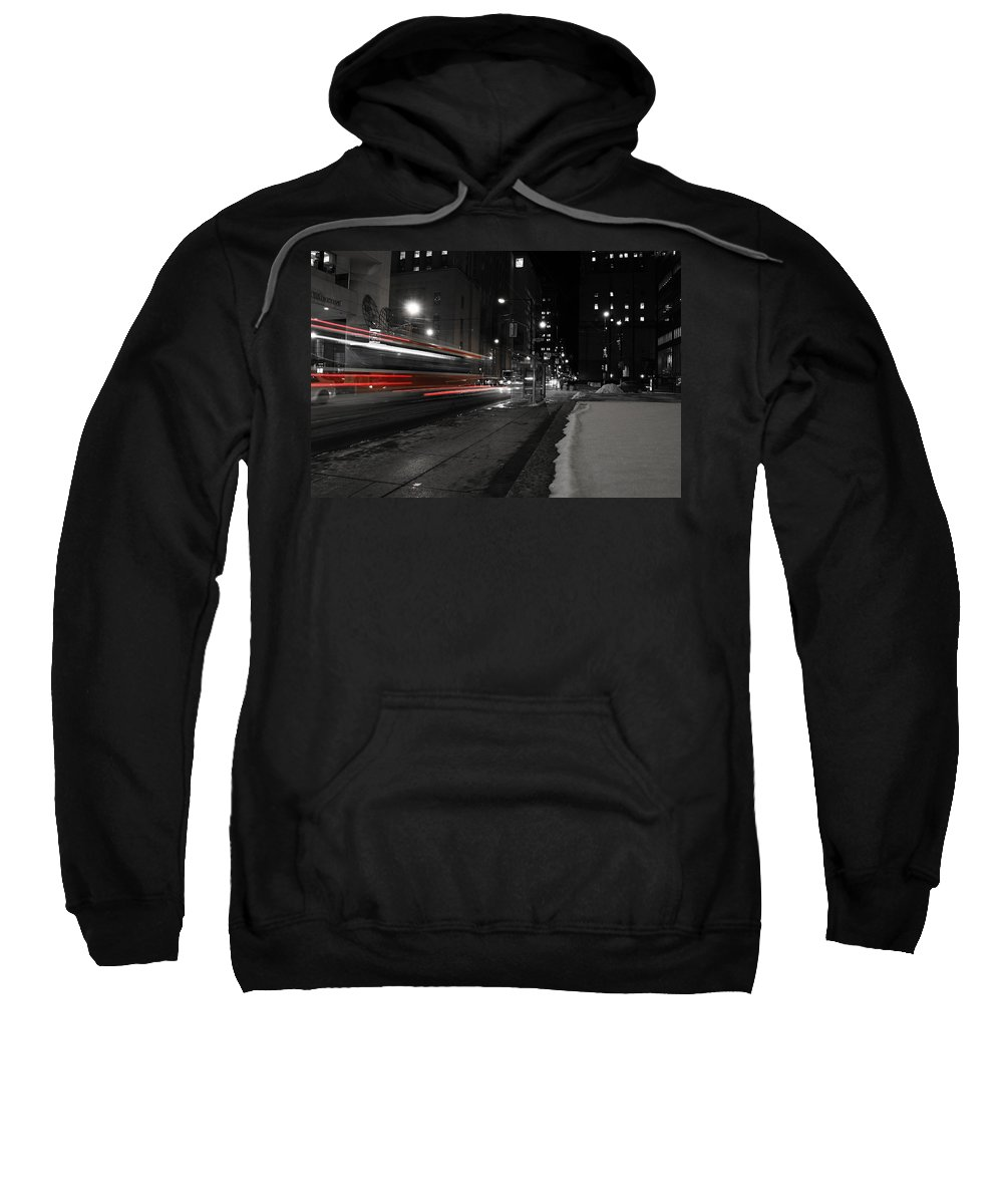 Toronto Sweatshirt featuring the photograph Red Rocket by Andrew Fare