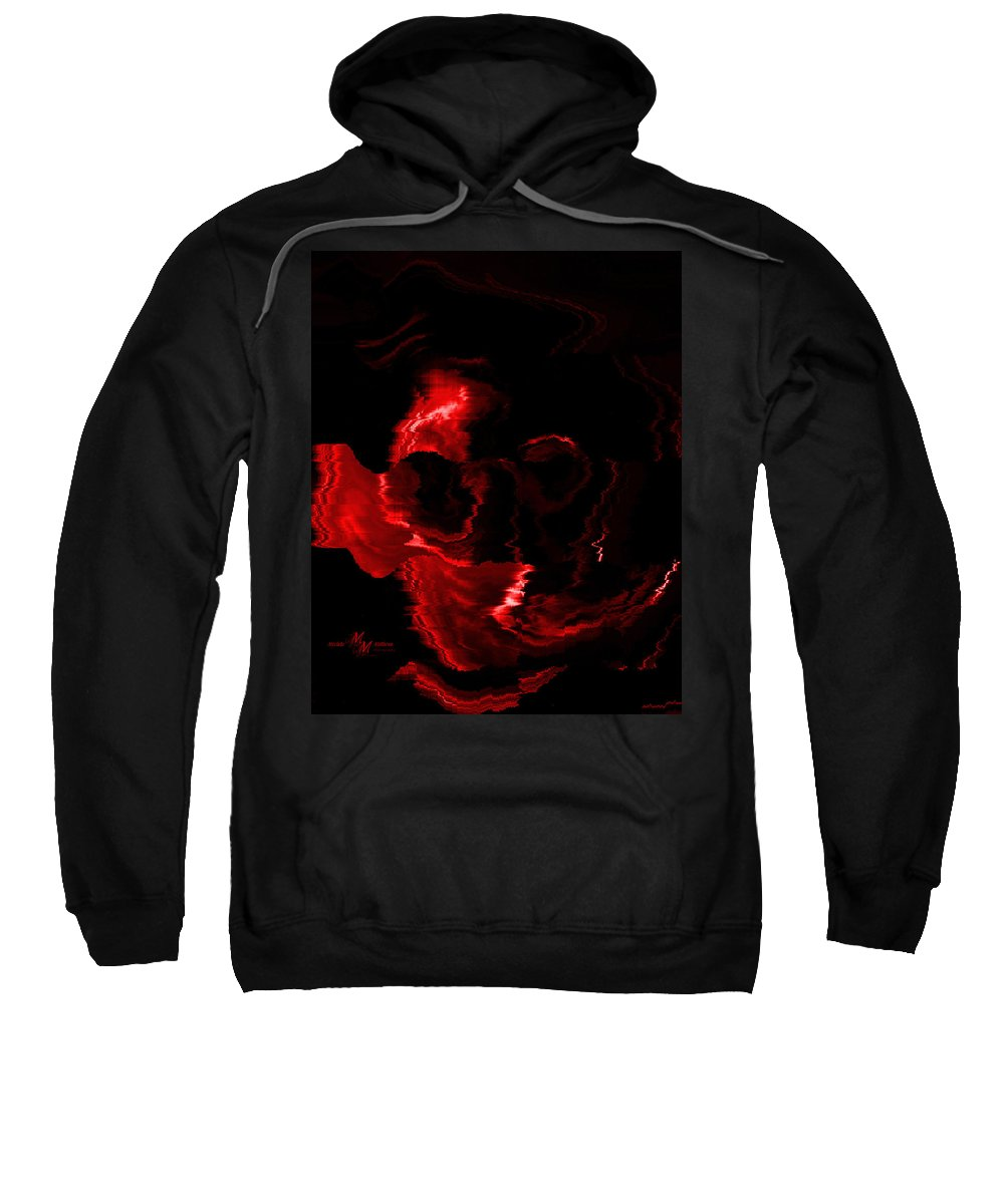 Red Sweatshirt featuring the digital art Red Skull by Mechala Matthews