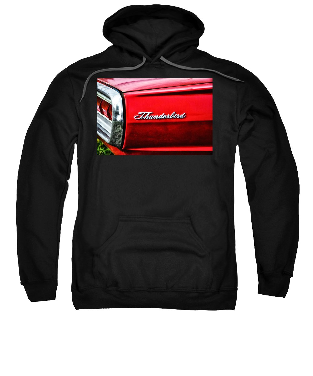 Red Thunderbird Sweatshirt featuring the photograph Red Thunderbird by Bill Cannon