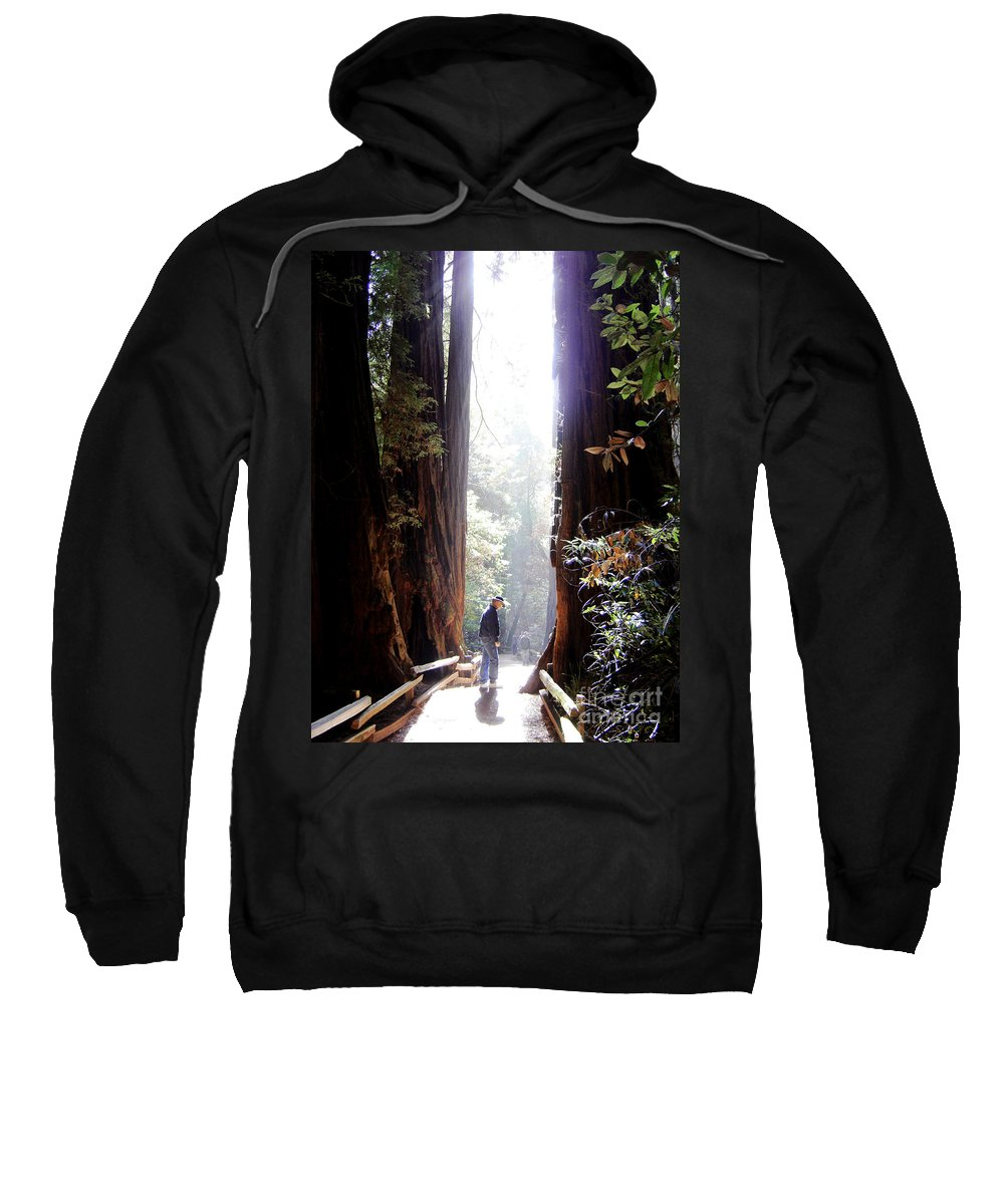 Pathway Sweatshirt featuring the photograph Redwood Path by Mary Rogers