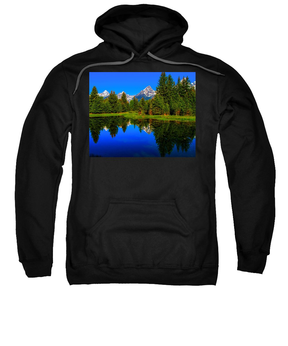 Reflection Sweatshirt featuring the photograph Reflection by John Hannan