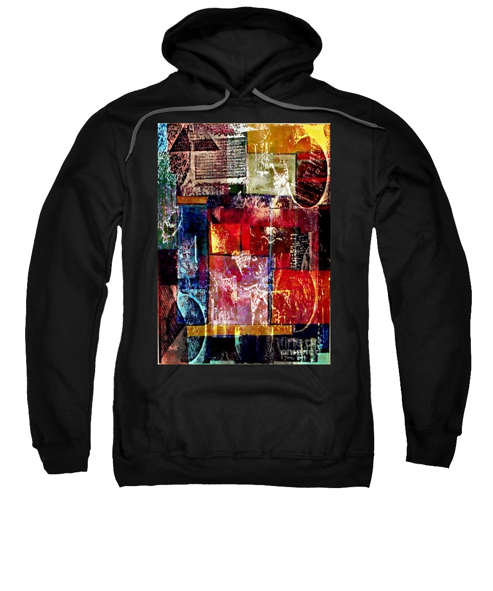 Digital Art Abstract Sweatshirt featuring the digital art Reflection by Yael VanGruber