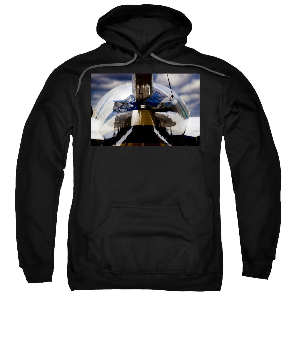 Beechjet 400 Sweatshirt featuring the photograph Reflections From The Back by Paul Job