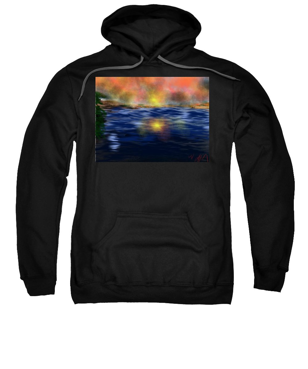 Sunset Sweatshirt featuring the painting Reflections Of The Day by Bill Minkowitz