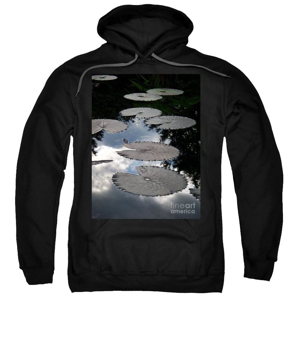 Water Lilies Sweatshirt featuring the photograph Reflections On A Lily Pond Monet by Eric Schiabor
