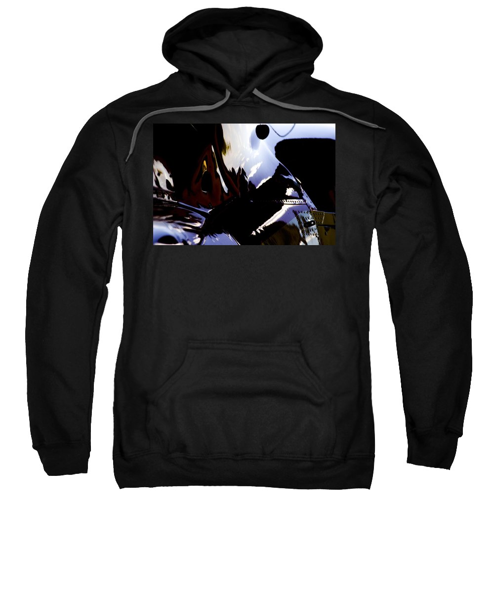 Eurocopter As350 B3 Sweatshirt featuring the photograph Reflections by Paul Job