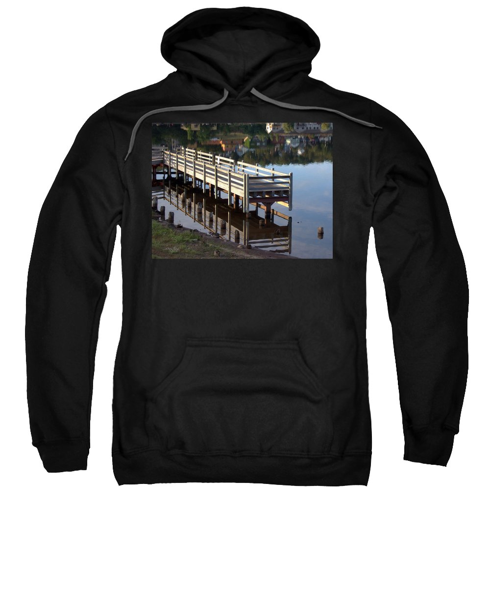 Mirror Sweatshirt featuring the photograph Reflective Perspective by David T Wilkinson