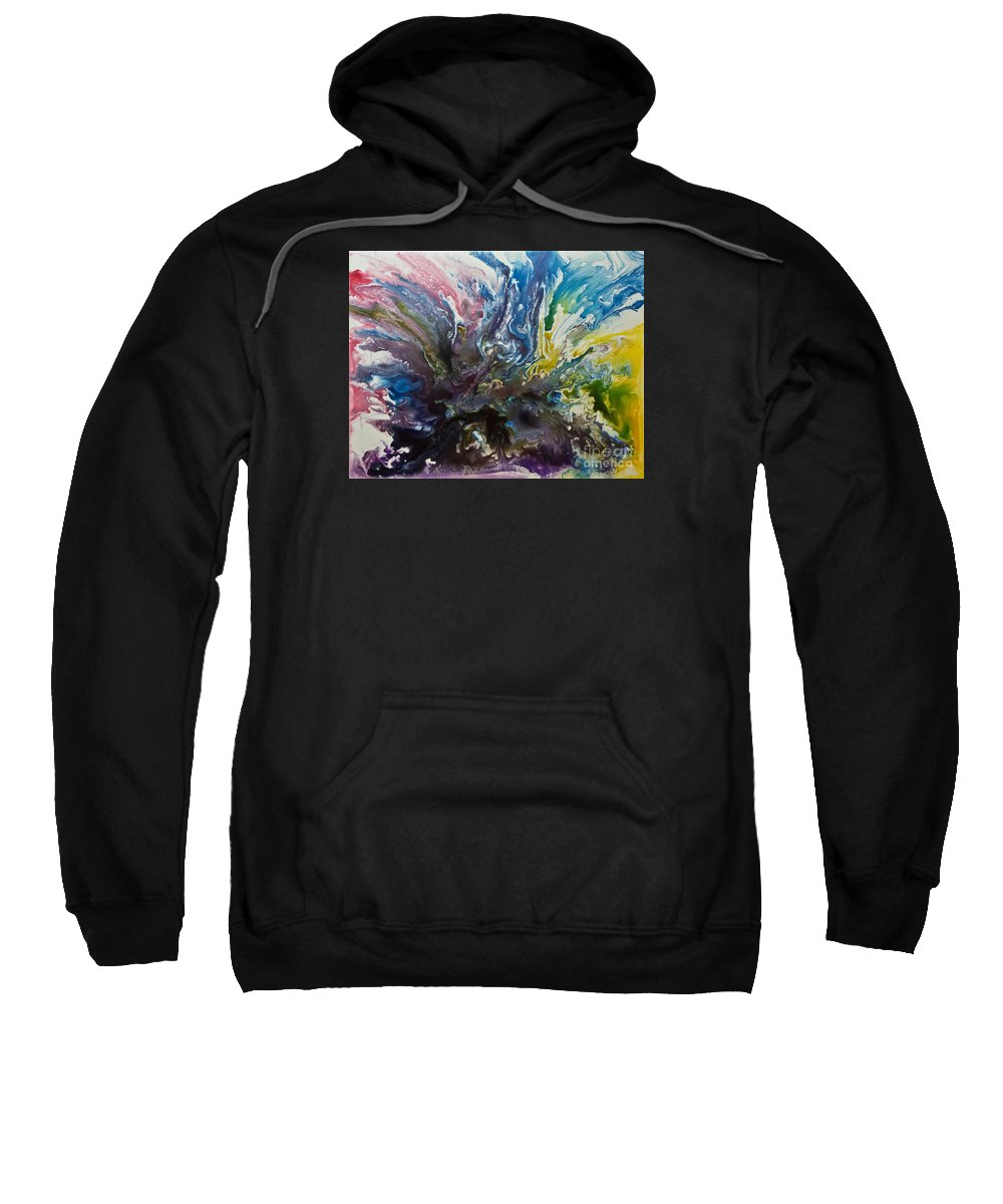 Painting Sweatshirt featuring the painting Resolution by Joel Loftus