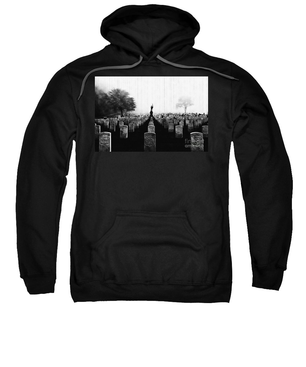 United States Army Sweatshirt featuring the photograph Rest In Peace by Digital Kulprits