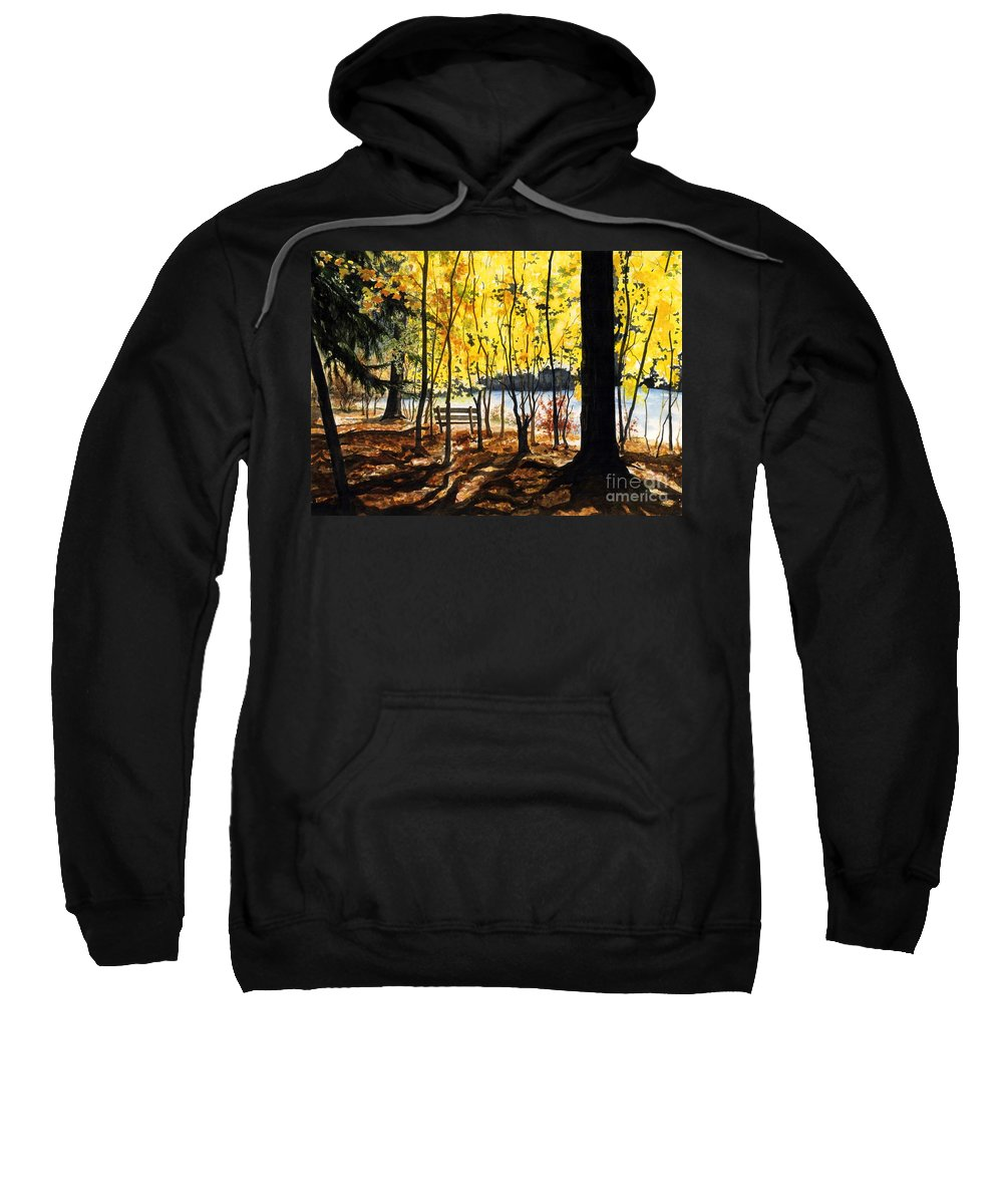 Water Color Paintings Sweatshirt featuring the painting Resting Place by Barbara Jewell