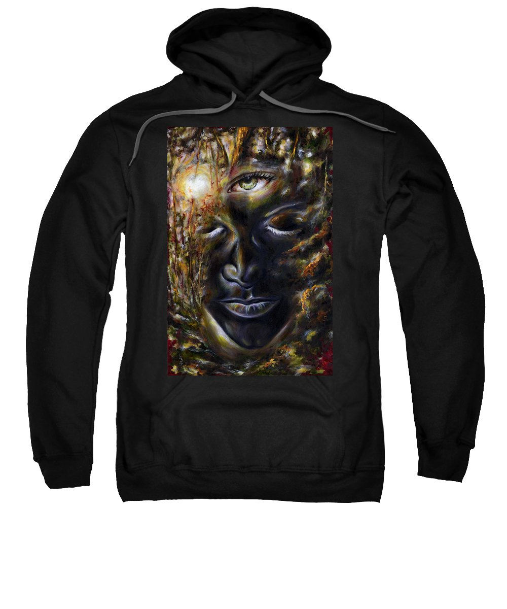 Eye Sweatshirt featuring the painting Revelation by Hiroko Sakai